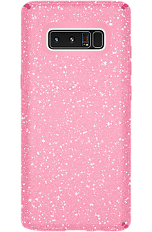 Presidio Clear Grip + Glitter for Galaxy Note8 - Bella Pink