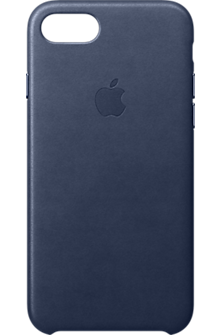 iPhone 8/7 Leather Case - Midnight Blue