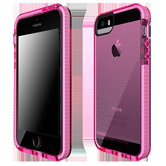 iPhone Se Tech21 Evo Mesh Case - Pink & White