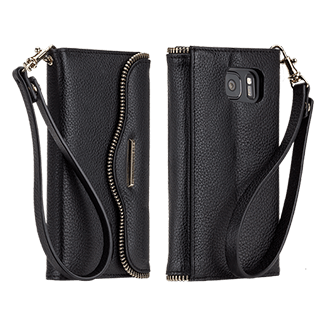 Samsung Galaxy S7 Rebecca Minkoff Leather Wristlet - Black