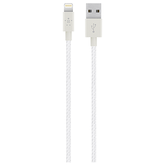 Belkin Mixit 4' Premium Metallic Lightning Cable - White