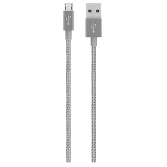 Belkin Mixit 4' Premium Metallic Micro Usb Cable - Grey