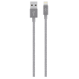 Belkin Mixit 4' Premium Metallic Lightning Cable - Grey