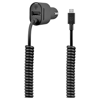 T-Mobile 3.4a Micro Usb Vehicle Power Charger - Black