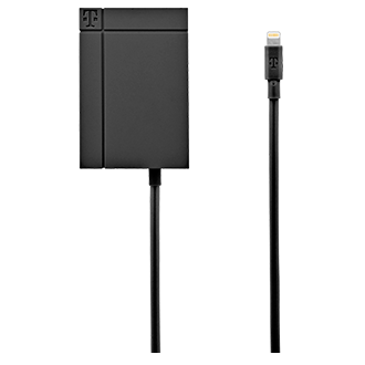 T-Mobile 3.4a Lightning Tip Travel/wall Charger - Black