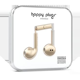Happy Plugs Earbud Plus Headphones - Champagne