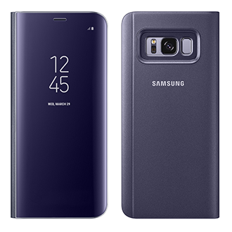 Samsung Galaxy S8 Clear Sview Flip Cover - Orchid Gray