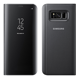 Samsung Galaxy S8 Plus Clear Sview Flip Cover - Black