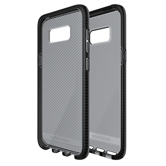 Samsung Galaxy S8 Plus Tech21 Evo Check Case - Smoke & Black