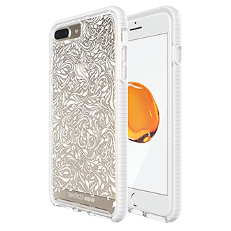 Apple iPhone 7/8 Plus Tech21 Evo Check Lace Case - Clear & White
