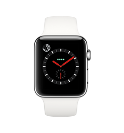 Watch Series 3 42mm - Stainless - Soft White Band