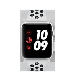 Watch Nike+ 42mm - Silver - Platinum Black Band