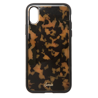 Apple iPhone X Sonix Clear Coat Tort Case - Brown And Black
