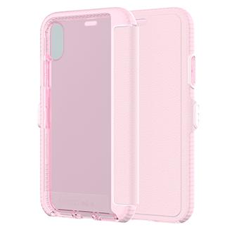 Apple iPhone X Tech21 Evo Wallet - Light Pink