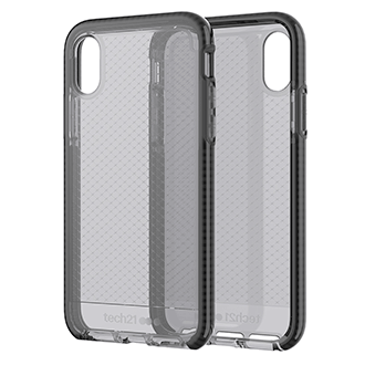 Apple iPhone X Tech21 Evo Check Case - Smoke/black