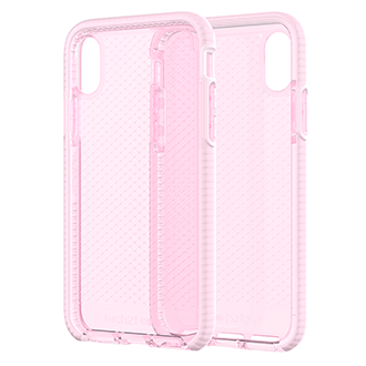Apple iPhone X Tech21 Evo Check Case - Rose Tint
