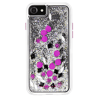 Apple iPhone 7/8 Case-Mate Waterfall Case - Magenta Glitter
