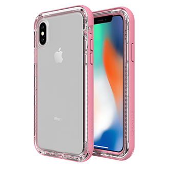 Apple iPhone X Lifeproof Next Case - Clear/rose
