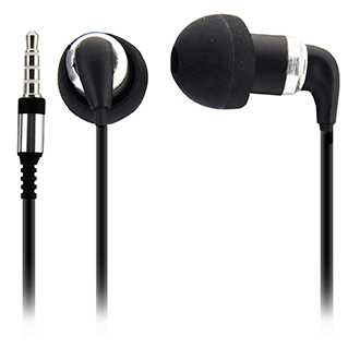 Ultra Pro: Stereo Buds With In-Line Mic & Case - Black