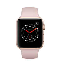 Watch Series 3 42mm - Gold - Pink Sand Band