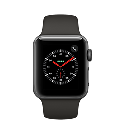 Watch Series 3 38mm - Space Gray - Gray Band
