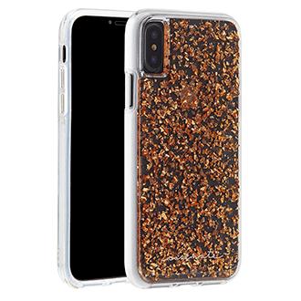 Apple iPhone X Case-Mate Karat Case - Rose Gold & Clear