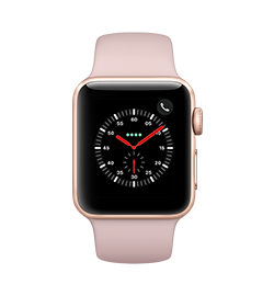 Watch Series 3 38mm - Gold - Pink Sand Band