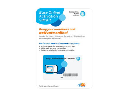 AT & T Easy Online Activation SIM Kit (Postpaid)