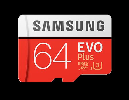 Samsung Micro SD EVO+ (v2) Memory Card w/Adapter