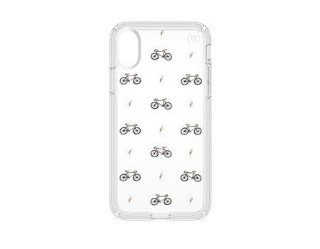 Speck Bike and Bolts Presidio Clear Case with Print - iPhone X
