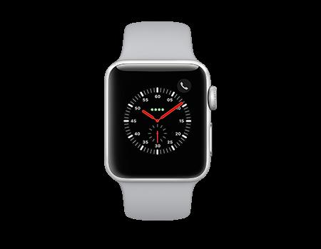 Apple Watch Series 3 - 38mm - Silver Aluminum - Fog Sport