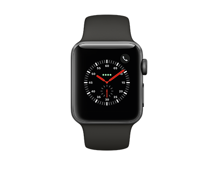 Apple Watch Series 3 - 38mm - Space Gray Aluminum - Gray Sport