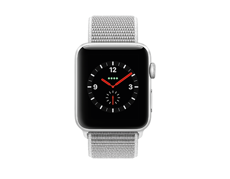 Apple Watch Series 3 - 42mm - Silver Aluminum - Seashell Sport