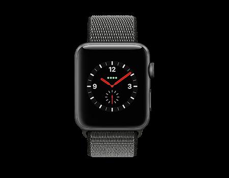 Apple Watch Series 3 - 42mm - Space Gray Aluminum - Dark Olive Loop