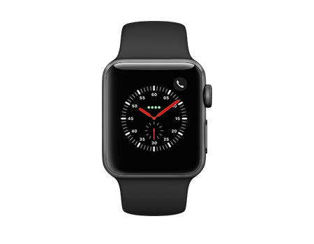 Apple Watch Series 3 - 38mm - Space Gray Aluminum - Black Sport