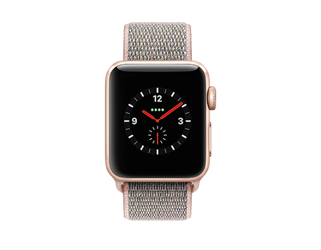 Apple Watch Series 3 - 38mm - Gold Aluminum - Pink Sand Loop