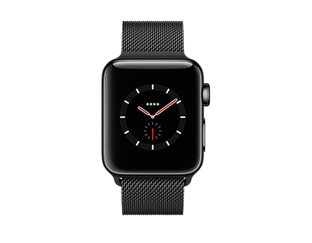 Apple Watch Series 3 - 38mm - Space Black Stainless - Black Milanese