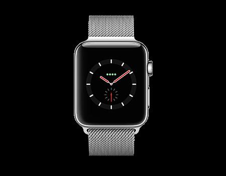 Apple Watch Series 3 - 42mm - Stainless - Milanese Loop