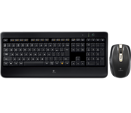 Wireless Illuminated Keyboard K800 & Anywhere Mouse MX Bundle