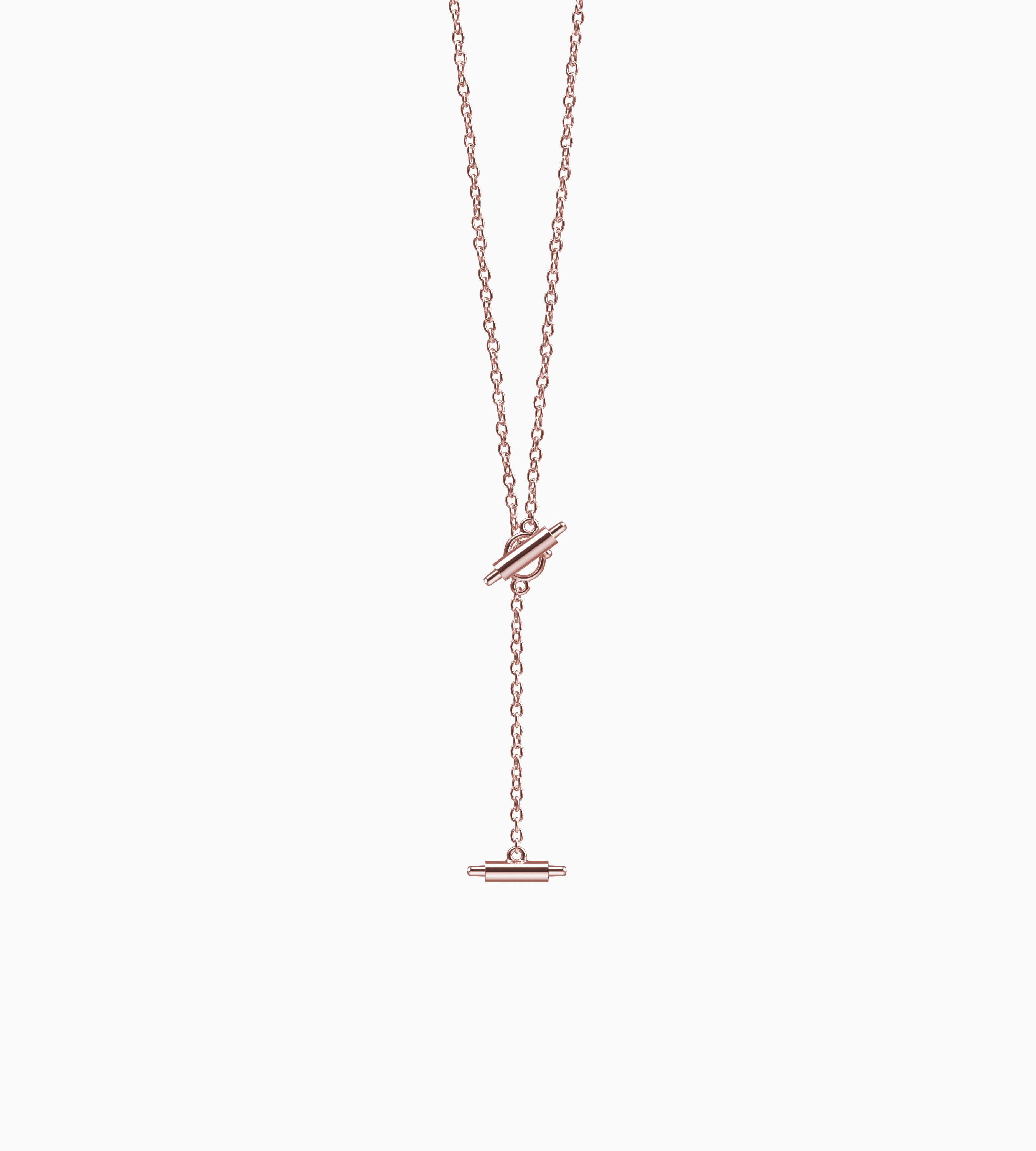 Lariat Necklace for Misfit Ray (Rose Gold)