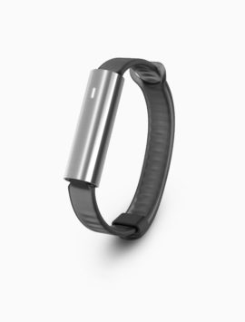 Misfit Ray Fitness & Sleep Tracker - Polished Stainless Steel + Black Sport Band