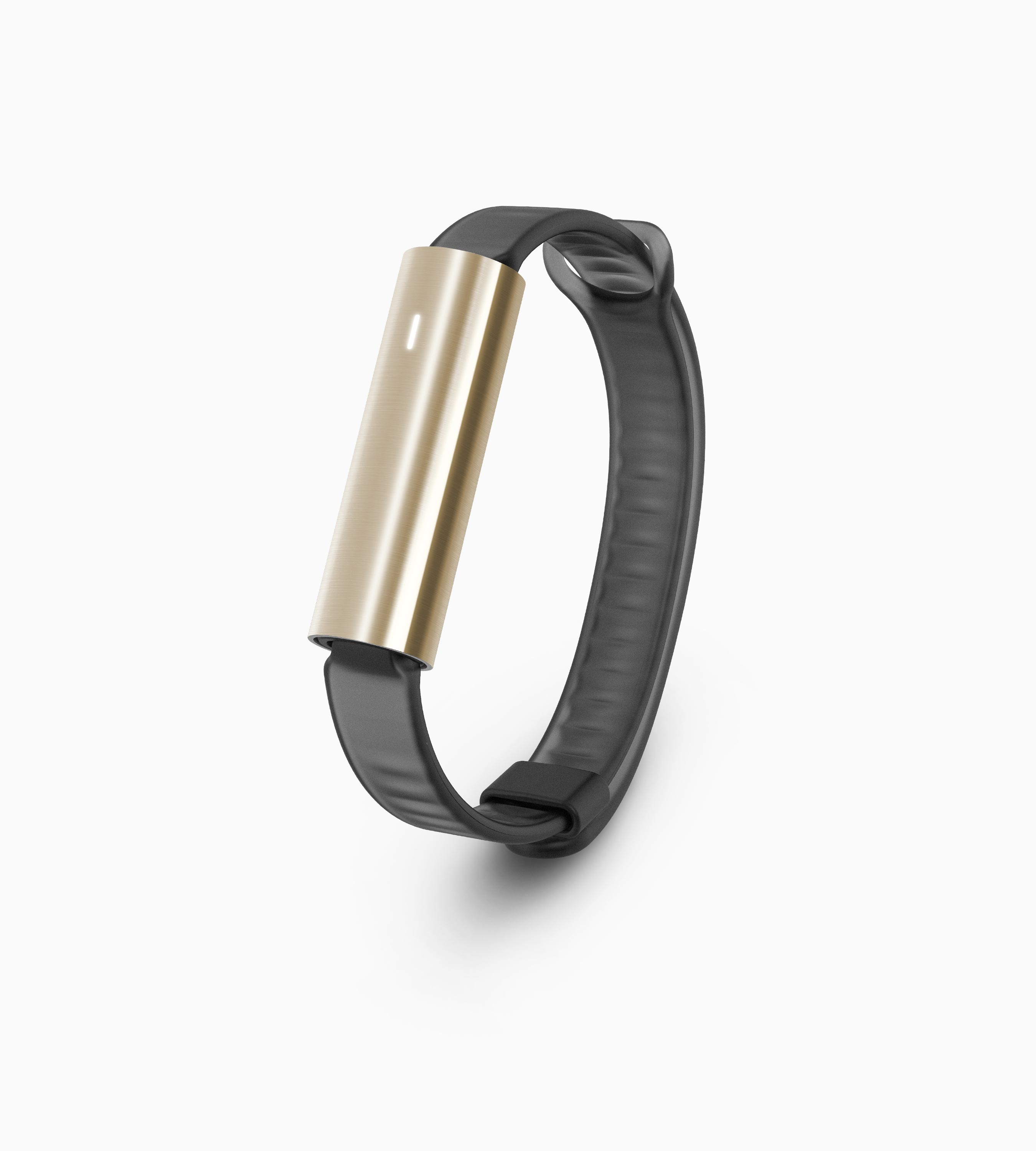 Misfit Ray Fitness & Sleep Tracker - Polished Stainless Steel Gold + Black Sport Band
