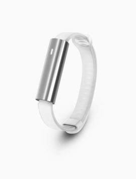 Misfit Ray Fitness & Sleep Tracker - Polished Stainless Steel + White Sport Band