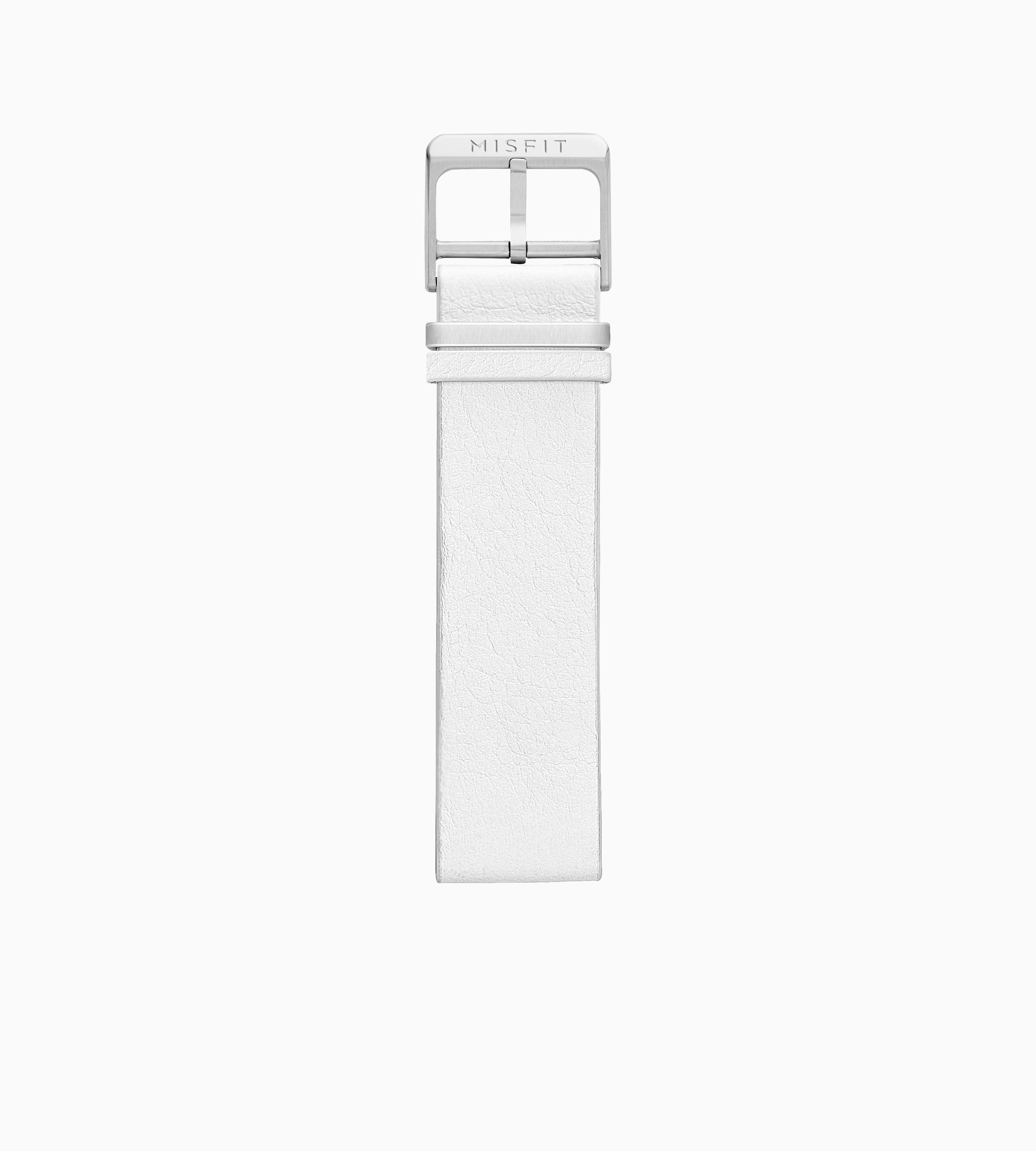 Leather Band for Misfit Phase (White)