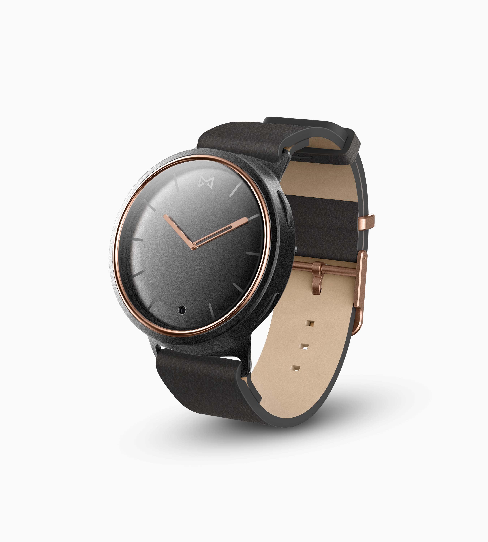 Misfit Phase Hybrid Smartwatch (Black & Rose Gold)