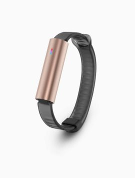Misfit Ray Fitness & Sleep Tracker + Black Sport Band (Rose Gold)