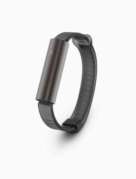 Misfit Ray Fitness & Sleep Tracker + Black Sport Band (Carbon Black)