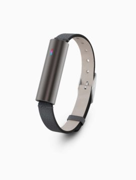 Misfit Ray Fitness & Sleep Tracker + Black Leather Band (Carbon Black)