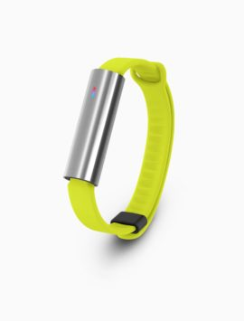 Misfit Ray Fitness & Sleep Tracker + Lime Sport Band (Polished Stainless Steel)