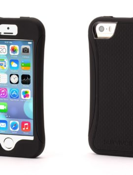 Black Survivor Slim Protective Case for iPhone 5/5s